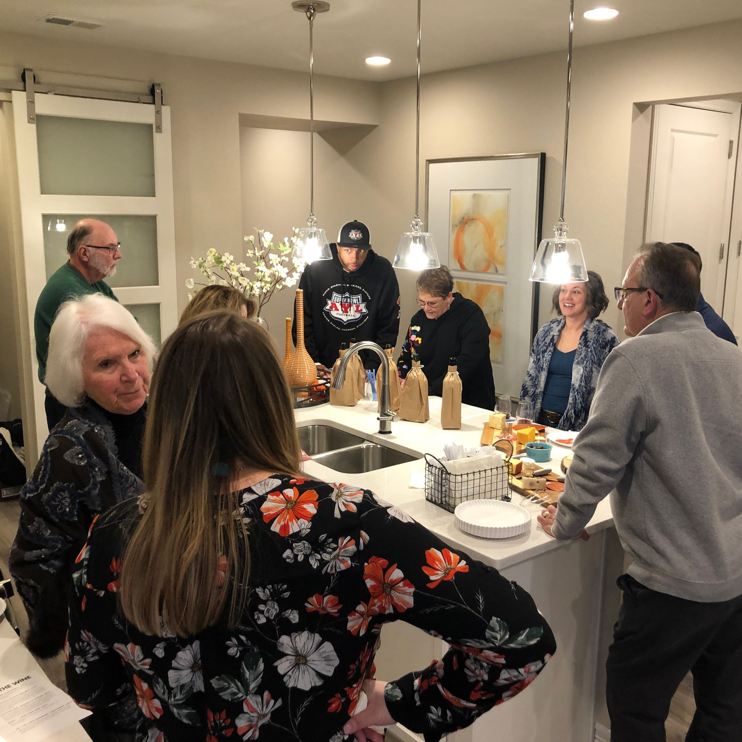 Homeowners at Blind Wine Tasting Event